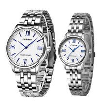 SINOBI Couple Watch Women Watches Mesh Strap Quartz Clock Si