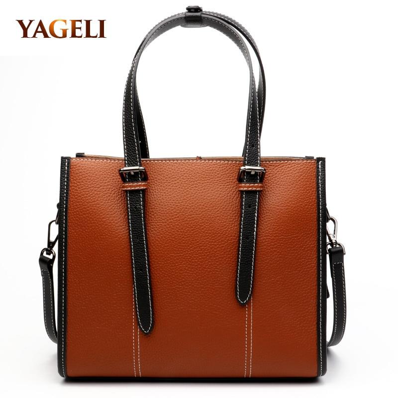 2018 genuine leather handbag for women brand design cow leather ladies' handbags fashion luxury women shoulder bags lady totes