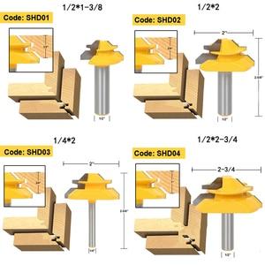 Image 5 - Peu de défonceuse à tige, 8mm, 1/4, Anti rebondissement, 45 degrés, 1/2 pouce, fraise à tige pour outils de menuiserie couteau à bois 1 pièce