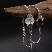 pure silver restoring ancient ways ms Mosaic stone Mosaic pomegranate red and white opal high grade bracelet wholesale