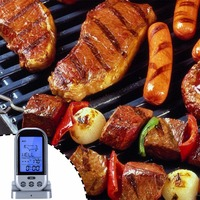 Wireless Remote Digital Food Meat Oven Smoker Microwave Turkey Thermometer With Probe For BBQ Grilling Roasting