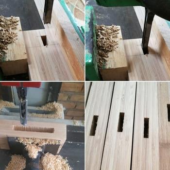 6,4mm/8mm/9,5mm/12,7mm 4 Teile/satz Hohl Platz Loch Sah Mortiser Meißel Auger Spiralbohrer Holz Werkzeug