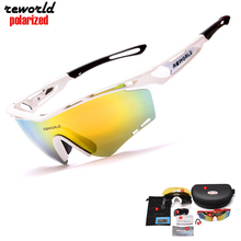 2017 NEW RBWORLD Glasses Brand Men/Women Cycling Eyewear UV400 Coating Polarized Sunglasses Oculos De Sol Glasses 5 Lens