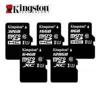 Original Kingston Flash Card UHS I Class 10 MicroSD Card 16GB 32GB 64GB 128GB Memory Card