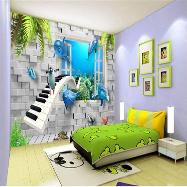 Beibehang Custom 3d Wallpaper Hd Modern Underwater World Children