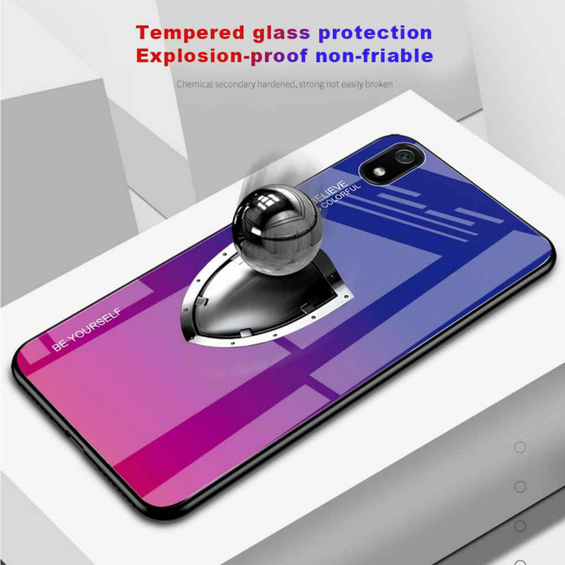 XINDIMAN 2019 fundas for xiaomi redmi7 7A case anti knock colorful Gradient dfashion capa for xiaomi redmi6 redmi6A cover case in Fitted Cases from Cellphones Telecommunications