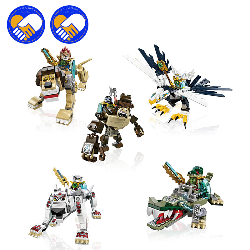 (A Toy A Dream)Eagle Ape Crocodile Wolf Lion CHIMAED Compatible Building Blocks Bricks For Children Gift Kids Toys hot sale qigong legend animal figures wolf lion eagle crocodile lepine building bricks blocks sets toy for children gift