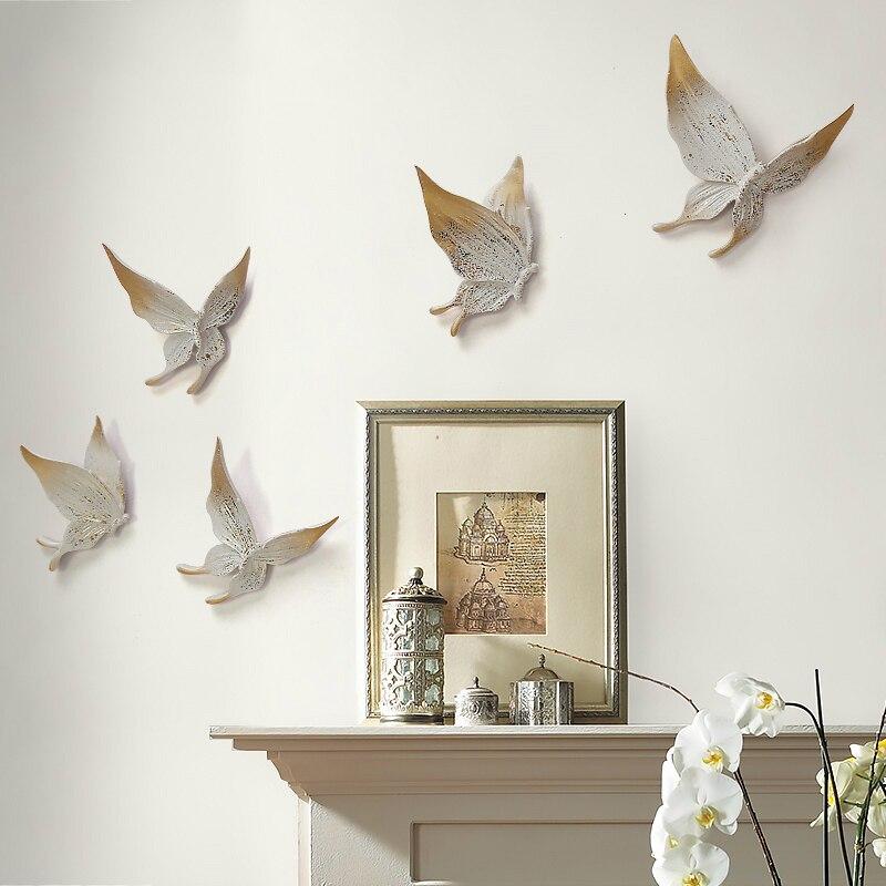 Creative 3D stéréo papillon en relief décoration murale TV fond mur ornements moderne créatif bricolage ornements muraux