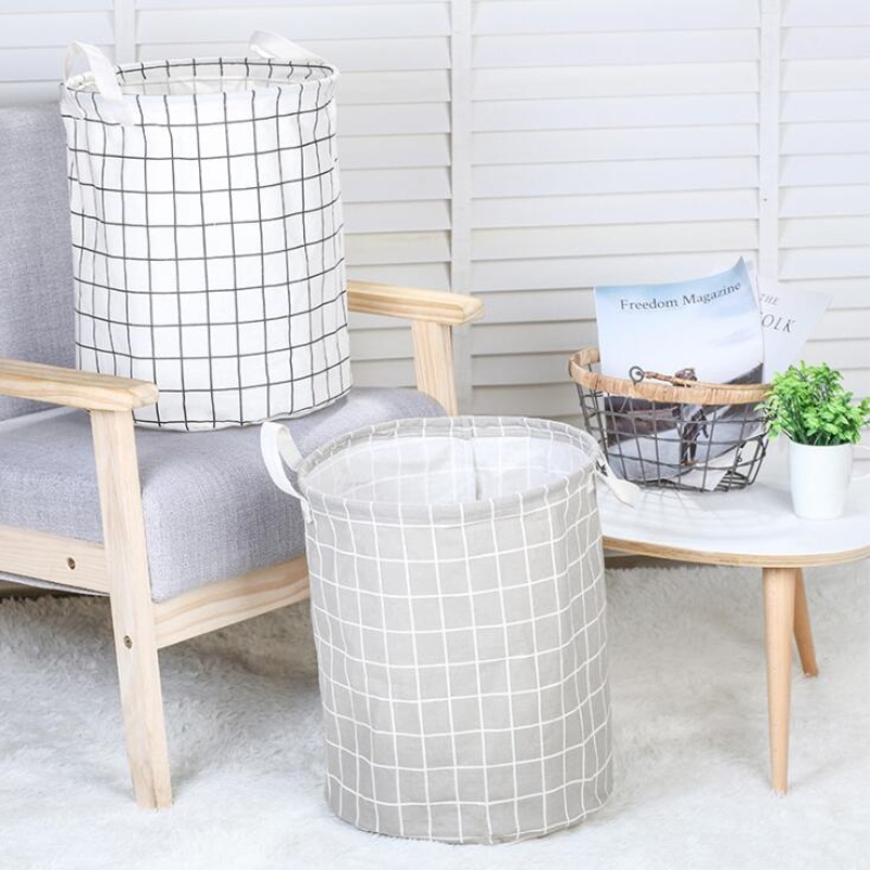 Large Folding Storage Basket Laundry Container Toys Home Clothes Storage Bags Sundries Storage Barrel Clothes Organizer in Storage Baskets from Home Garden