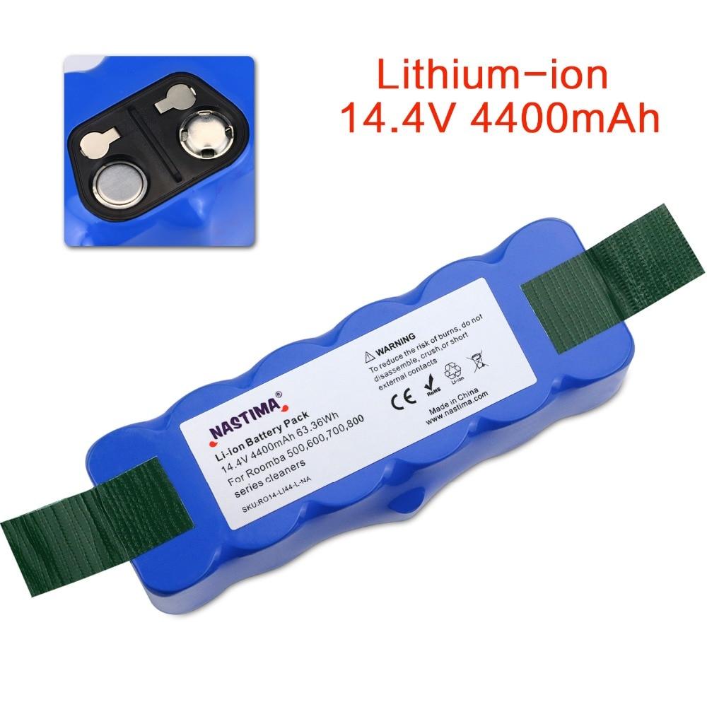 4.4Ah Li-ion Batterie Compatible avec iRobot Roomba R3 500,600,700,800,900 Série 510 550 560 600 620 650 760 770 780 870 900 980