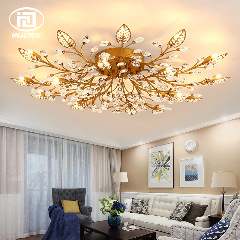 American Style K9 Crystal Leaf Chandelier Lighting Retro Luxurious LED G9 Ceiling Lamp For Living room Restaurant BedroomAmerican Style K9 Crystal Leaf Chandelier Lighting Retro Luxurious LED G9 Ceiling Lamp For Living room Restaurant Bedroom