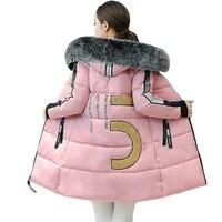 Back Letter Print Women Jackets 2017 New Fashion Winter Warm Outwear Coats Women S Casual