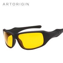 Brand ARTORIGIN Hot Sale Night Driving glasses Anti Glare Glasses For Safety Driving Sunglasses Yellow Lens Night Vision Goggles
