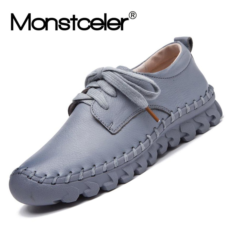 Fashion Comfortable Handmade Women s Sneaker Shoes New Soft Sole Women s Genuine Leather Shoes Spring