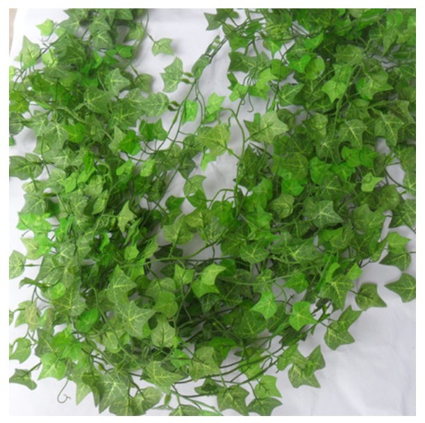 (12 pcs/lot) 240cm Special offer simulation ivy/green ivy leaf for/Green cane/creepers Chlorophytum/plastic rattan vine leaves