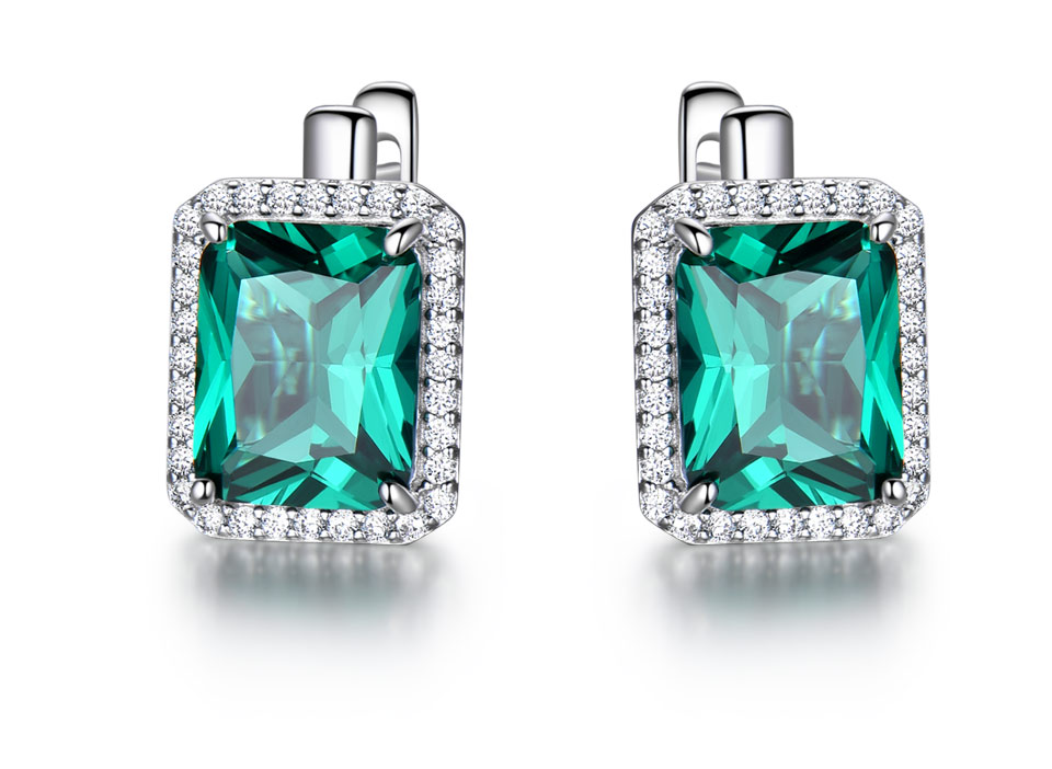 UMCHO-Emerald-925-sterling-silver-clip-earrings-for-women-EUJ082E-1-PC_02 -