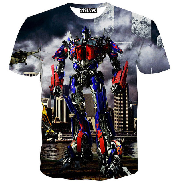 Cool Men/Women Transformers Optimus Prime Printed 3D T shirt Short Sleeve Mens Funny T Shirts Summer Brand Men T-shirt