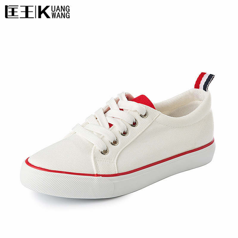 kuangwnag brand shoes 2017 white canvas shoes