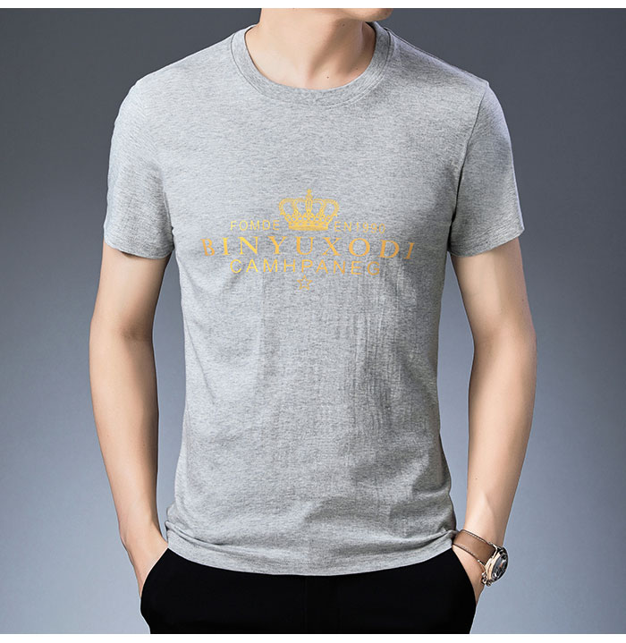 Baishanglinna Spring Summer Short Sleeve Tee Shirt Men Casual O-Neck T-Shirt Men Pure Cotton Top Homme Brand Clothing S - XXXXL 11