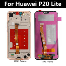 5.84 LCD With Frame For HUAWEI P20 Lite Lcd Display+Touch Screen ANE-LX1 ANE-LX3 Nova 3e