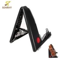 Universal Portable Floor Stand Holder Folding Acoustic Bass Musical Instruments Frame Ukulele Plastic Rack Guitar Accessories
