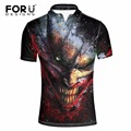 FORUDESIGNS Funny Character Printed Mens Polo Shirt Summer Short Sleeve Casual Polos European Style Male Turn-Down Collar Polos