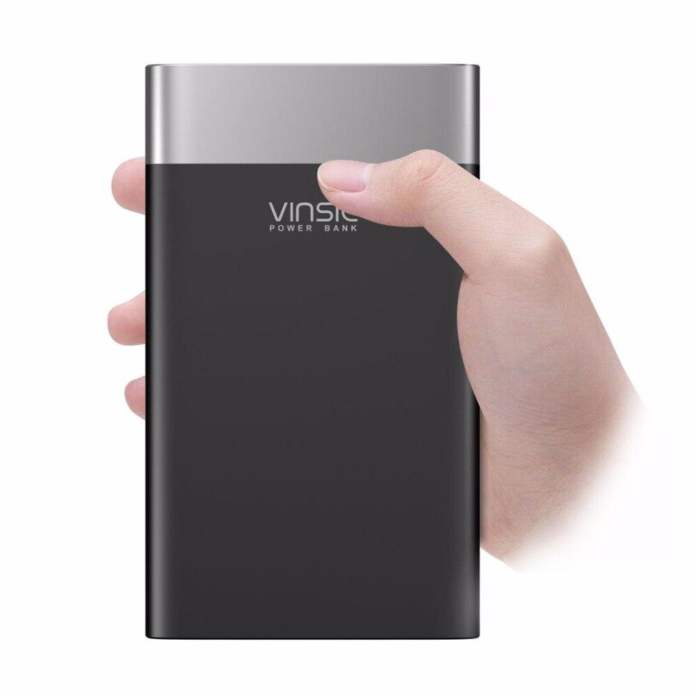 VINSIC Unique 20000 MAH batterie externe double USB type-c chargeur de batterie alimentation chargeur de téléphone pour Smartphones tablettes Powerbank
