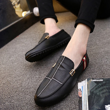 2018 Spring Autumn Men Casual Shoes Slip On Mesh Breathable Men Driving Shoes Comfortable Soft Mens Loafers Shoes Casual Leather roegre spring mens casual loafers shoes men comfortable slip on flat suede leather driving shoes mocassins for man blue grey