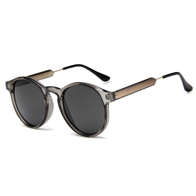 Lunettes De Soleil rondes rétro femmes hommes marque Design Transparent femme lunettes De Soleil hommes Oculos De Sol Feminino Lunette Soleil