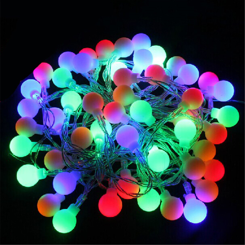 Christmas 5M 50LEDs Battery Powered Led Ball String Fairy Lights Lamps For  Patio Garden Camping Christmas