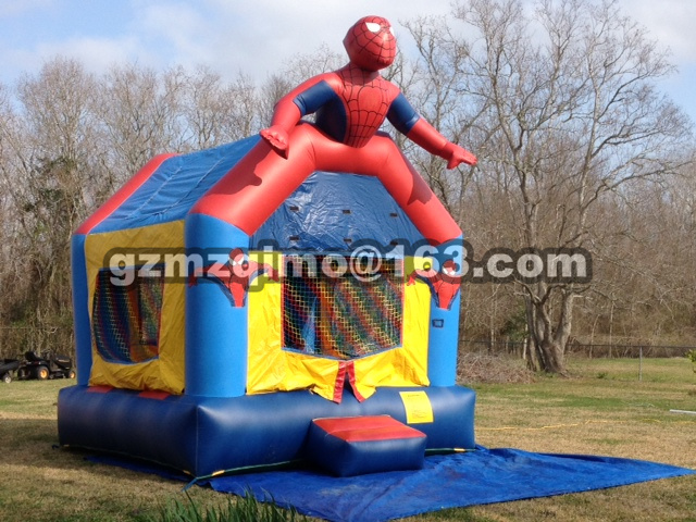spiderman Backyard Kids Mini Nylon Bounce House Inflatable Bouncer Bouncy Castle Jumping Castle with Slide and Blower for Home U yard residential inflatable bounce house combo slide bouncy with ball pool for kids amusement