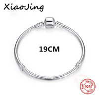 Classic 100 925 Sterling Silver Basic Chain Snake Clasp Fits Charm Bracelets Necklaces Fashion Jewelry Women