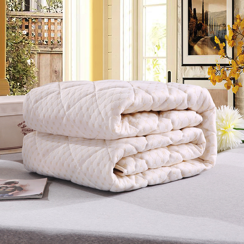 Quilted Mattress Cover Pad Bed Topper Protection with Elastic Bandage King Queen Full Twin Size 1.7 to 2.5Kg Free Ship