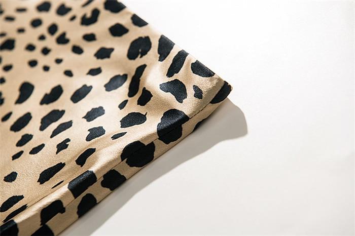 Hot Sale High Waist Leopard Midi Skirt Female Hidden Elasticized Waistband Silk Satin Skirts Slip Style Animal Print Skirt Women 15
