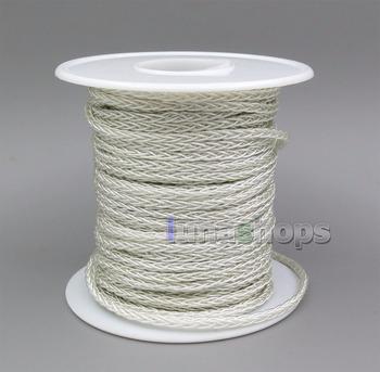 LN005938 100m Clear Silver 8 Cores PVC Extreme Soft Silver  Earphone Headphone Cable Wire 0.05mm*12
