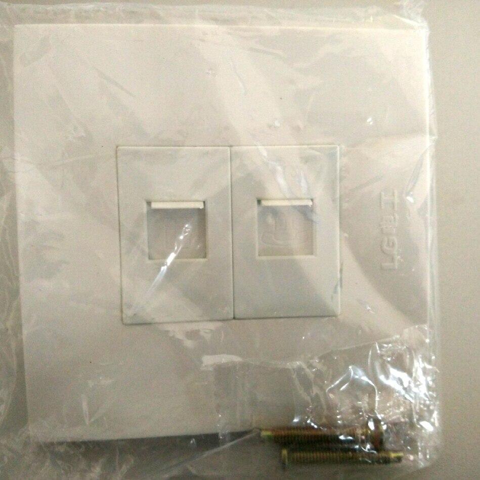 Офис белый квадрат Панель RJ11 Джек RJ45 сети Интернет 2 Порты и разъёмы стены Уход за кожей лица накладка AC 250 В без модуль