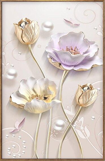 "Special,Diamond Embroidery,Full,DIY,Diamond Painting ""Tulip Flowers"",Cross Stitch,Diamond Mosaic,Bead Picture,Home Decor D1555"