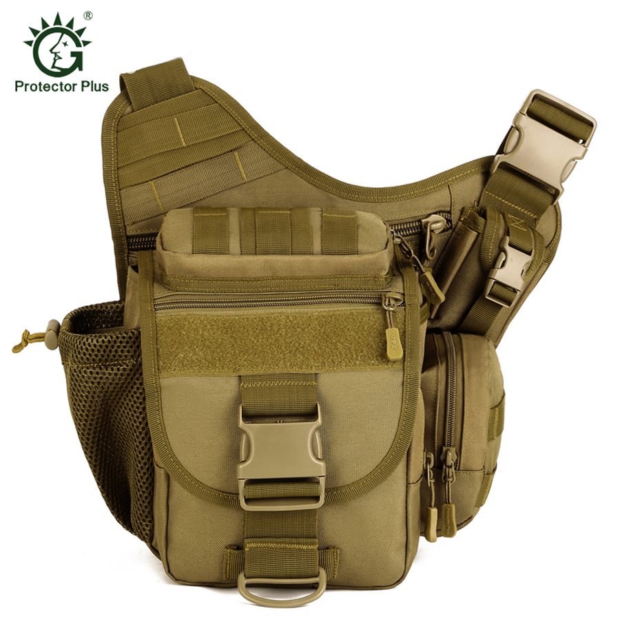Taktikal Tentera Luar Angkasa Baru MOLLE Assault SLR Camera Luggage Baggage Duffle Carry On Travel Camping Hiking Shoulder Bags