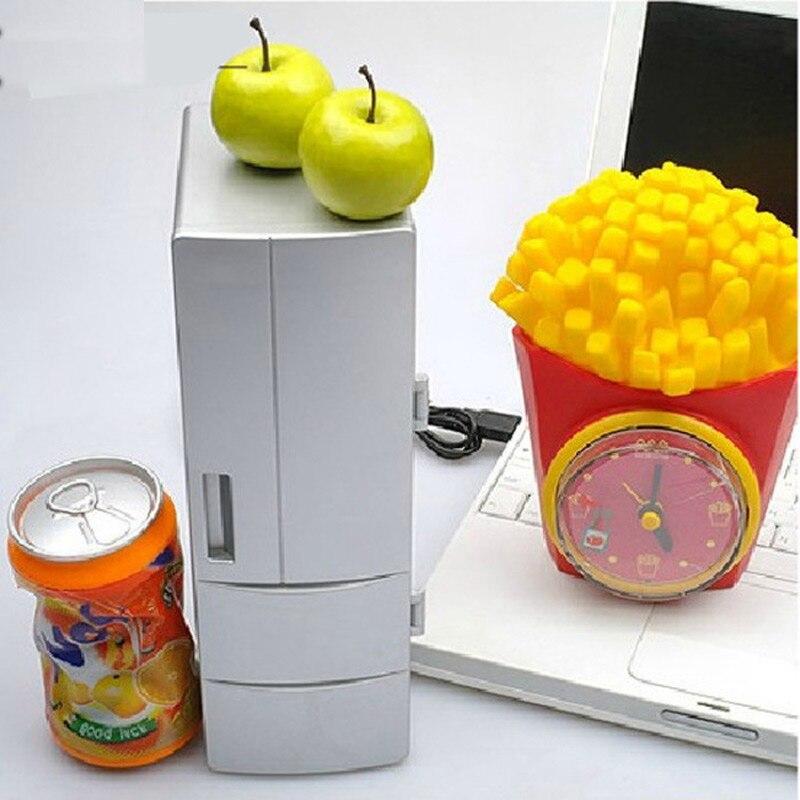 Ingelon Portable CoolerWarmer USB Fridge Refrigerator Mini Beverage Drink Cans Cooler Power for Office Laptop PC USB Gadgets (6)