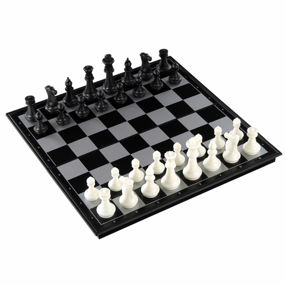 3 In 1 Portable Folding Board Magnetic International Chess Backgammon Checkers Set Game Play Toy Chess Pieces Plastic in Chess Sets from Sports Entertainment