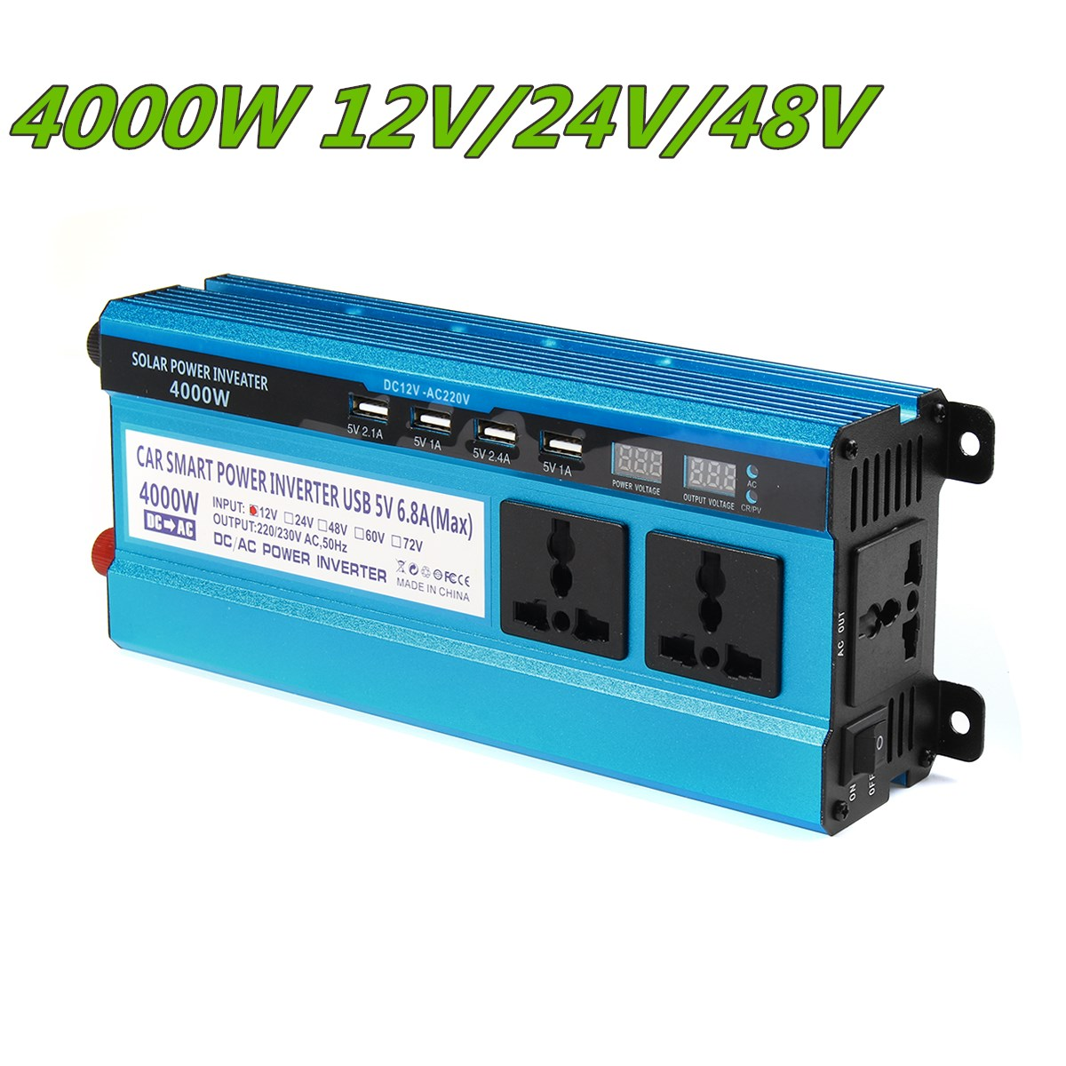 Solar Inverter DC 12V 24V 48V to AC 220V 3000W 4000W 5000W Inverter 19