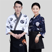Fashion Women Sushi Chef Uniform Men Restaurant Waitress Uniforms Korea Japanese Chef Coffee Hotel Food Service