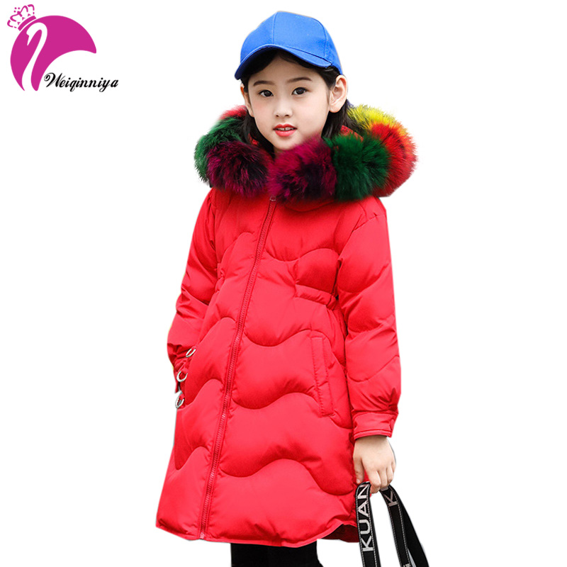 Children Girls White Duck Down Coat New Arrivals Winter Brand Fashion Fur Hooded Kids Long Parka Jacket Outwear Warm Clothing page international dictionary of education pr only