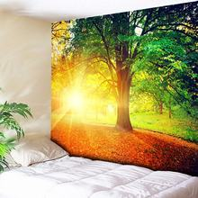 Forest Wall Tapestry Cheap Hippie Tapestry Wall Hanging Boho Psychedelic Tapestries Dazzling Sunshine Tree Home Decor Wall Cloth wall hanging art decor sunshine tree print tapestry
