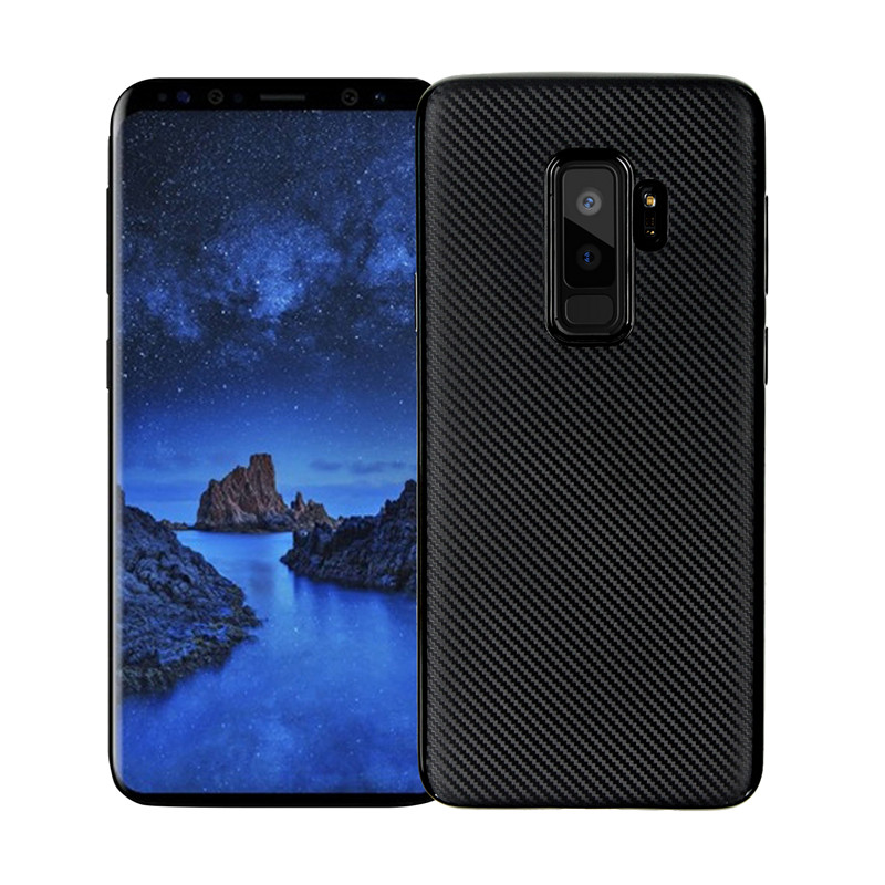 For Samsung S9 Plus Carbon fiber soft shell Galaxy Case Silicone Gel Back Cover S9+