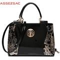 Assez sac! 2016 new women leather bags fashion women handbags embroidery style print handbags women messenger bag pouch LS7354