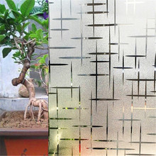60*200 cm Cross pattern Decoratived Opaque Frosted Window Films Vinyl Static Cling Self adhesive Privacy Glass Stickers