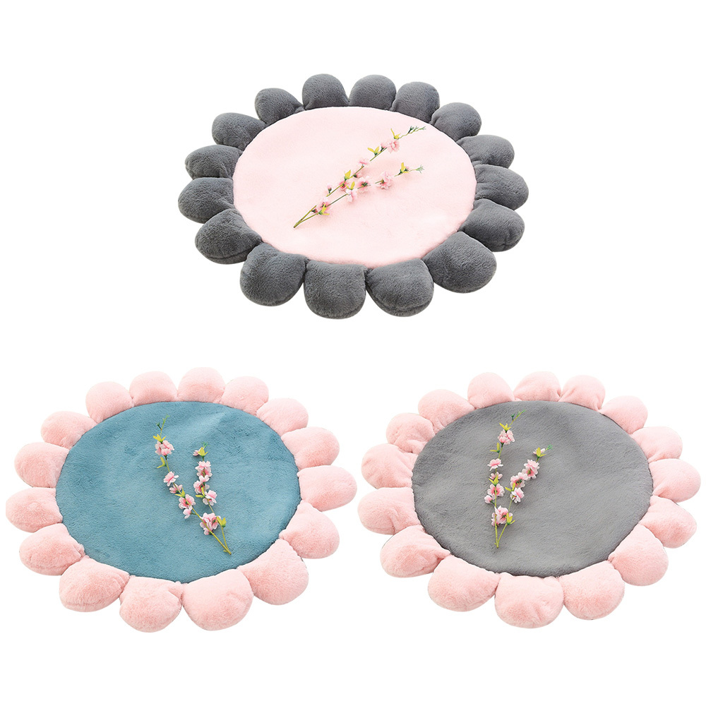 1 1m Baby Room Crawling Pad 3D Round Flower Shape Rug Living Room Stretch Carpets Play Mat Folding Children 39 s floor Mat Carpet in Carpet from Home amp Garden