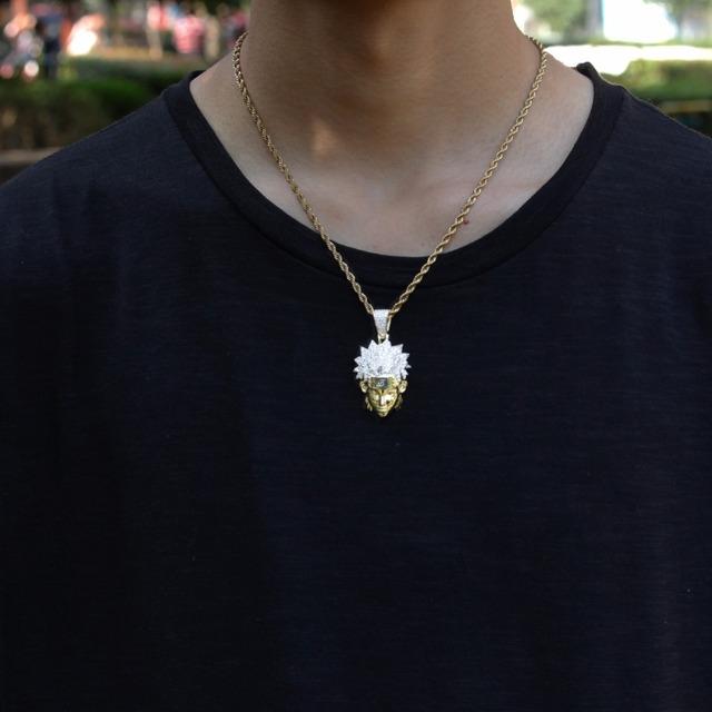 Naruto Uzumaki Collar Colgante de Zirconia Cúbica