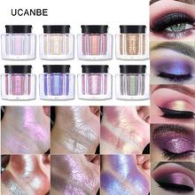 купить UCANBE Brand Shimmer Loose Eye Shadow Powder Makeup Pigment Waterproof Glitter Eyeshadow 3D Nude Metallic Eyes Powder Cosmetics онлайн
